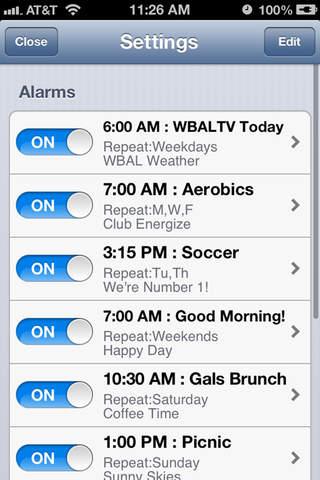 Alarm Clock WBAL-TV 11 Baltimore screenshot 4