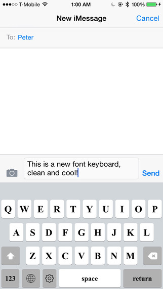 Keyboard of Times New Roman Font: Artistic Style Keys for iOS 8