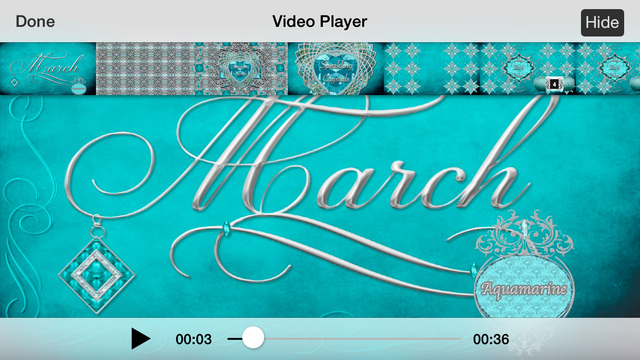 PATTCAST's March Aquamarine - Animated International Symbol Crochet Pattern for the Antique Birthsto