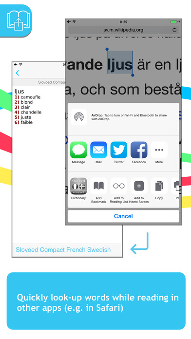 French <-> Swedish Talking SlovoEd Compact Dictionary iPhone Screenshot 3