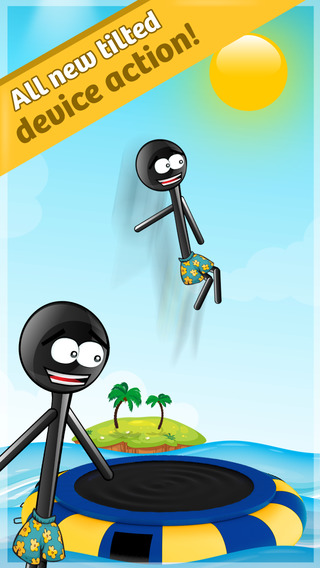 Stickman Water Trampoline Pro - Flipping Summer