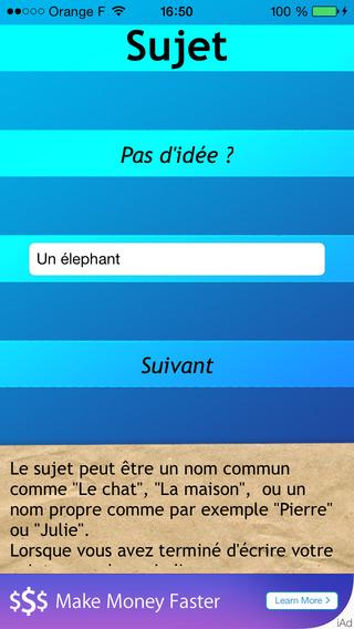 C Exquis - Le jeu du Cadavre Exquis iPhone Screenshot 2