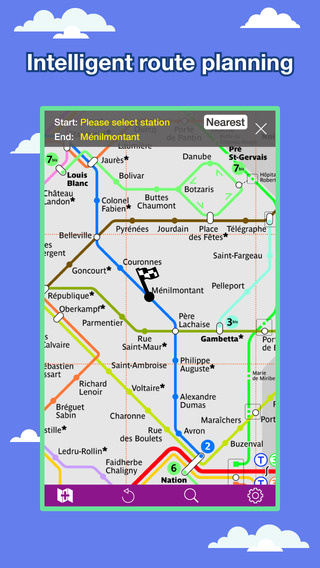Paris Transport Map - Metro Map and Route Planner