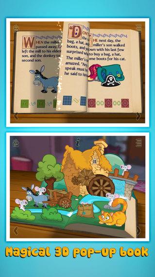 格林童话之穿靴子的猫:Grimm's Puss in Boots ~ 3D Interactive Pop-up Book