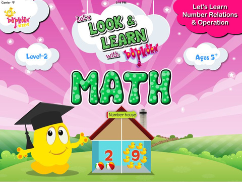 Look Learn Math with PopKorn: Number Relations Operations
