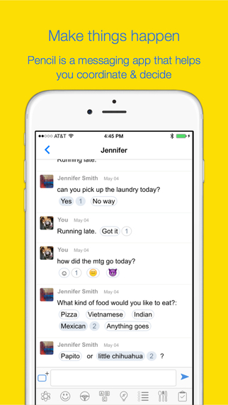 Pencil: Fast Interactive Messenger