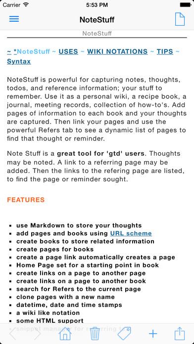 NoteStuff Lite iPhone Screenshot 1