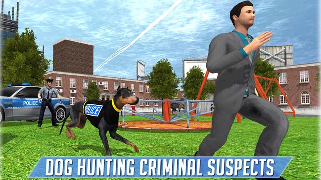 Police Dog Criminal Chase