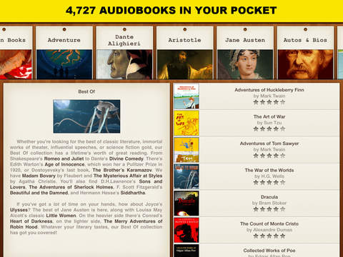 Free Audiobooks Pro- 4 727 audiobooks to go.