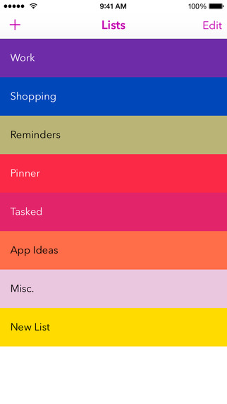 Tasked: Simple To-do Lists
