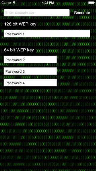 WEP Password Generator