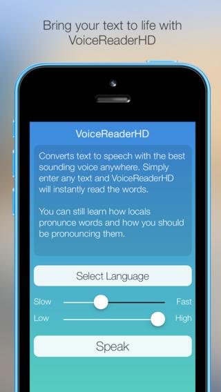 VoiceReaderHD - A great text to speech reader app