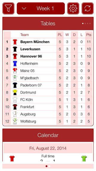 Deutsche Fußball 2015-2016 - Mobile Match Centre