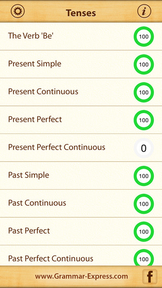 Grammar Express: Tenses iPhone Screenshot 1