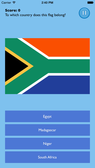 African Flags Challenge