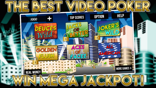 Vegas Video Poker Casino House with Prize Wheel Bonanza