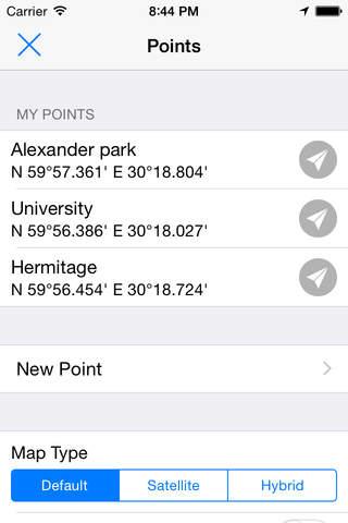 GPSPoints Navigator screenshot 2