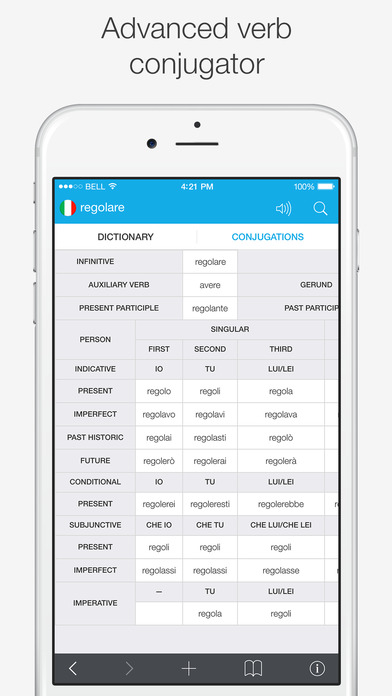 Translations: Italian - English Dictionary Screenshots