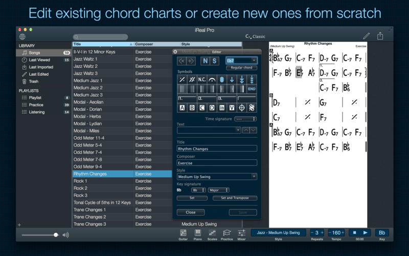 iReal Pro - Music Book & Play Along Screenshots