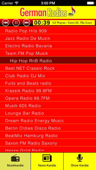 German Radios - Music - News - Talk Shows