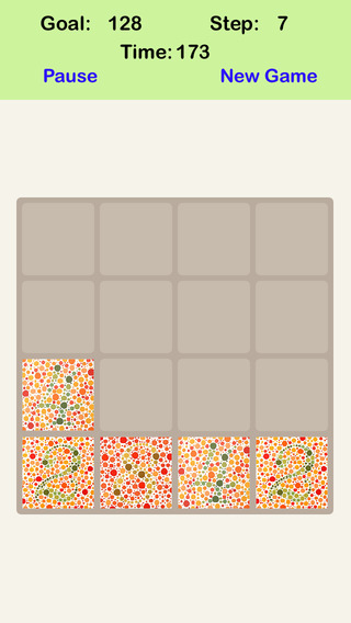Color Blind² 4X4 - Sliding Number Tiles Playing With Piano Sound