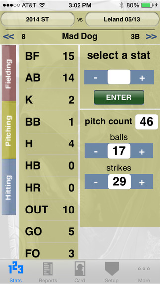 StatCatcher™ Softball (Player Edition) iPhone Screenshot 2