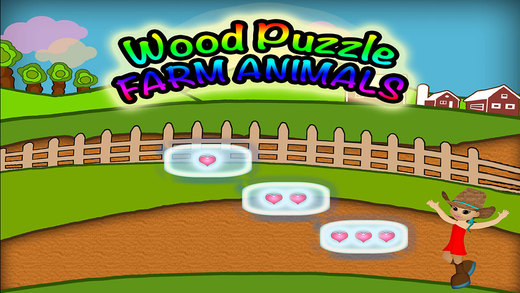 Animals Wood Puzzle Preschool Learning Farm Experience Match Game