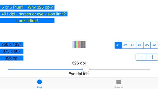 Eye dpi test