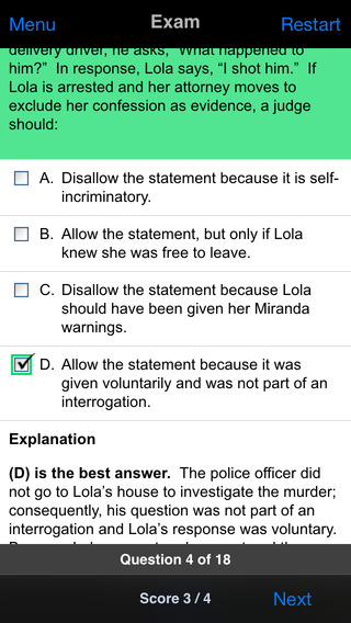 Criminal Procedure: Supreme Bar Review iPhone Screenshot 4
