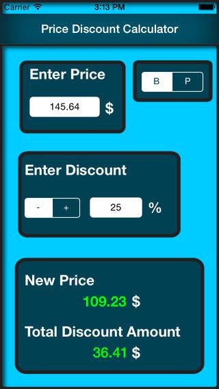 Price Discount Calculator