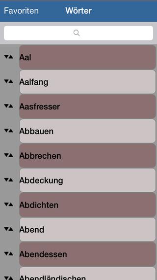 Latein - Wörterbuch