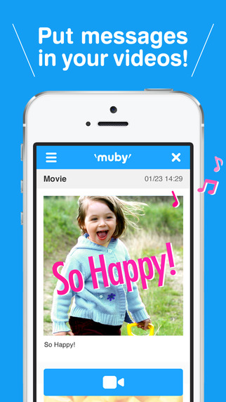 muby - Put animate text in your videos -