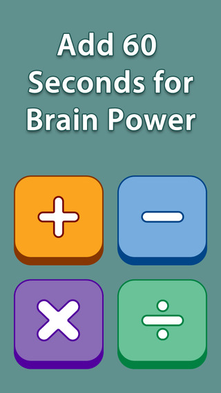 Add 60 Seconds for Brain Power - Subtraction Lite Free