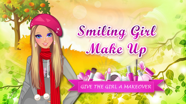 Smiling Girl Autumn Make Up - Beauty salon game for girls and kids