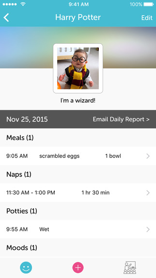 Munchkin Report - Daily Activity Tracking for Childcare Centers and Parents