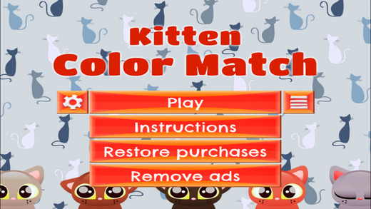 Kitten Color Match- FREE - Slide Rows And Match Baby Kittens Super Puzzle Game