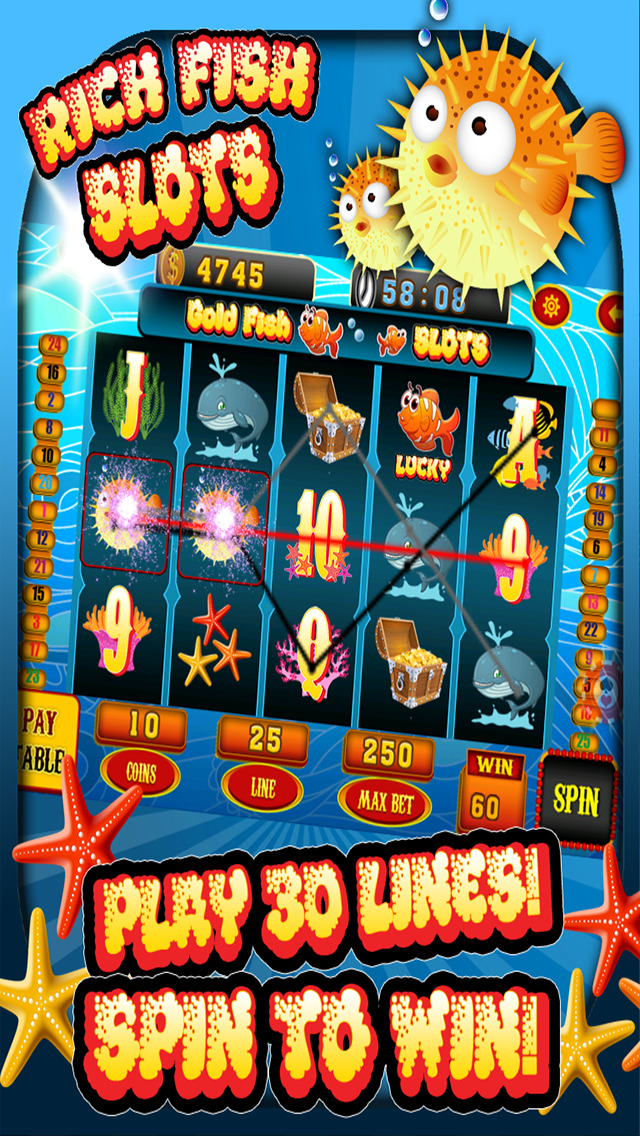 Ace classic rich fish slots lucky ocean journey casino for Fish casino slot
