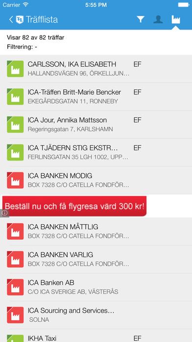 ratsit.se iPhone Screenshot 2