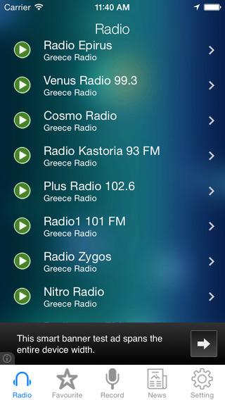 Greece Radio News Music Recorder