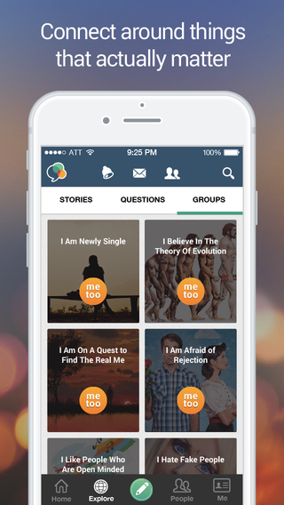 MeToo – The Experience Project App