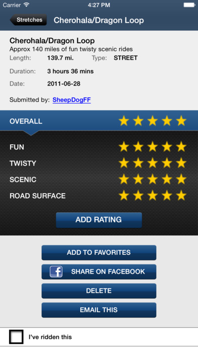 Greatest Road Motorcycle Rider GPS Road Finder iPhone Screenshot 4