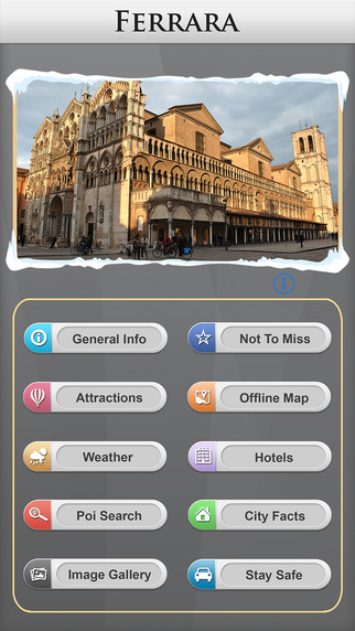 Ferrara Offline Map Travel Guide