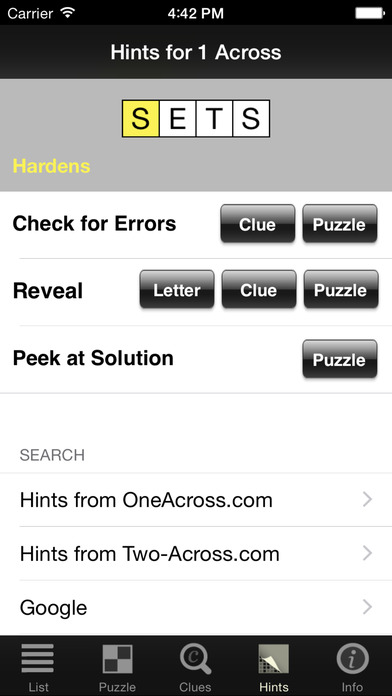 Crossword Light iPhone Screenshot 3