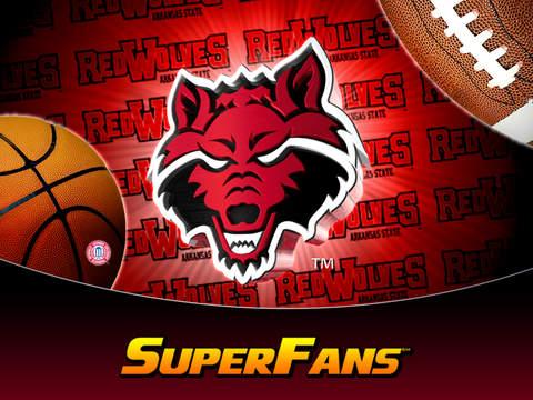 Arkansas State Red Wolves College SuperFans iPad Screenshot 1