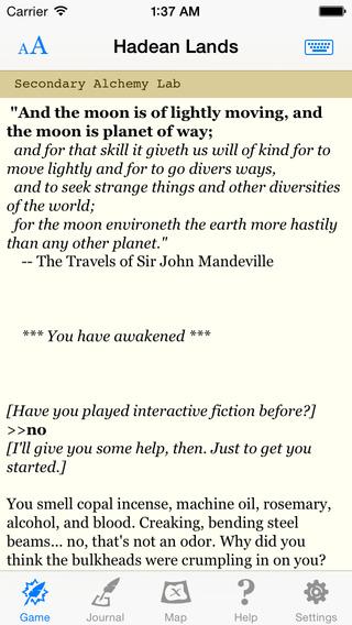 Hadean Lands: Interactive Alchemical Fiction