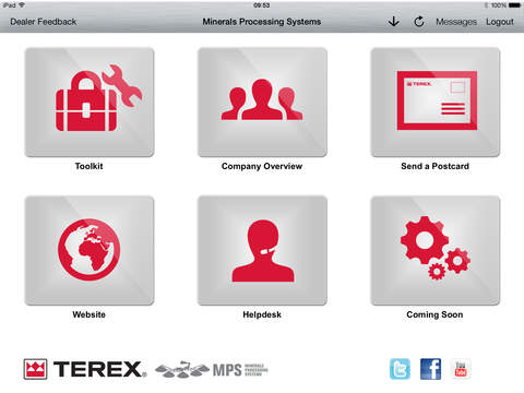 Terex Mineral Processing Systems Dealer Tool