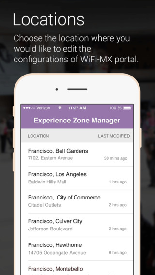 WiFi-MX Experience Zone Manager