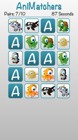 AniMatchers - A Fun Memory Matching Game for Kids