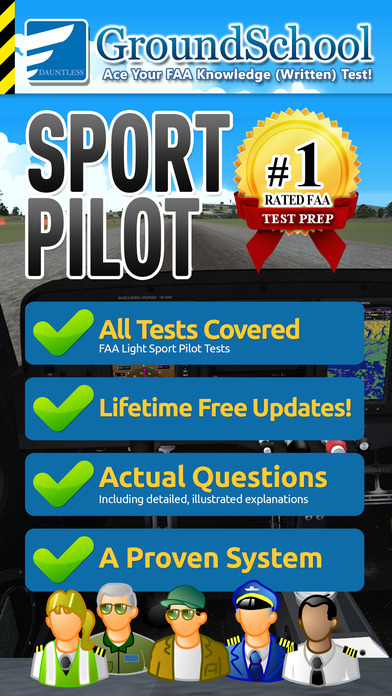 GroundSchool FAA Knowledge Test Prep - Sport Pilot iPhone Screenshot 1
