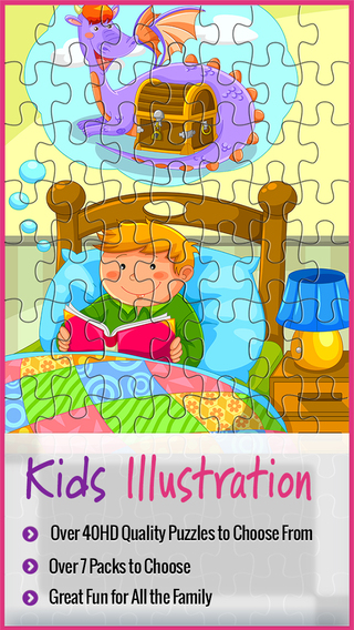 Kid's Jigsaw Touch Puzzle Jigty with Free Packs